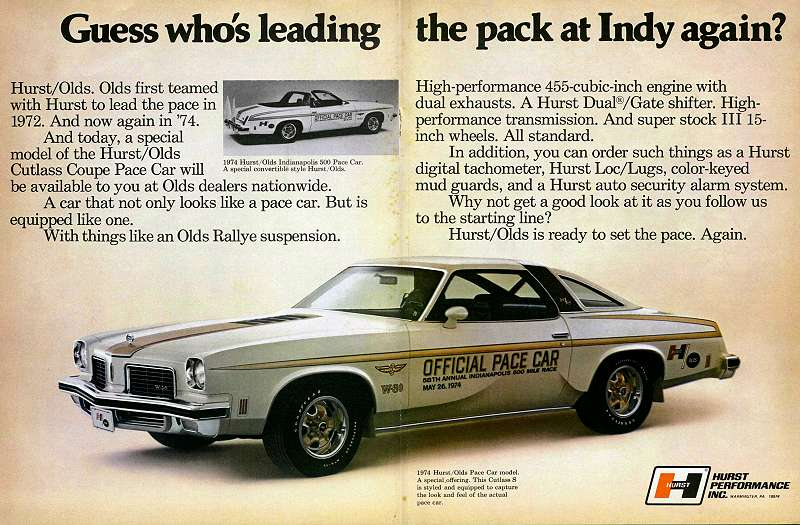 The 1974 Hurst/Olds Page